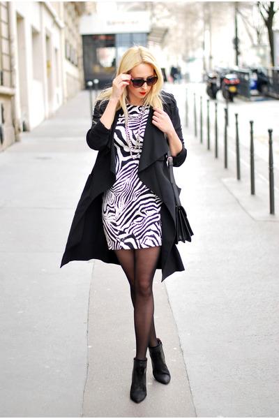 black Zara dress - black H&M blazer
