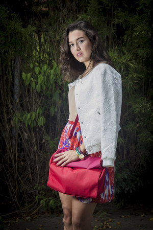 melao skirt - Aishop jacket - Zara purse