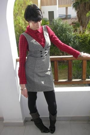 Office boots - dress - blouse