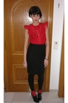 H&M blouse - Pinkie skirt - BLANCO shoes
