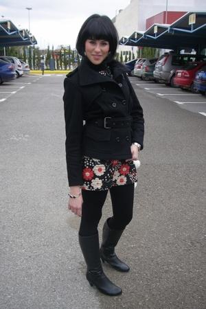 Primark jacket - Primark dress - vintage boots