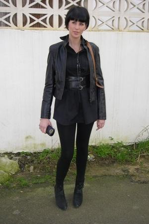 jacket - REPLAY boots - belt - dress