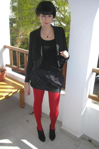 Stradivarius skirt - siena miller collection blazer - shoes - Calcedonia tights