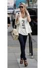 Navy-denim-jeans-white-blazer-eggshell-bag-white-top-dark-brown-glasses