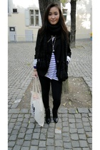 Zara blazer - H&M t-shirt - H&M shoes - vintage purse