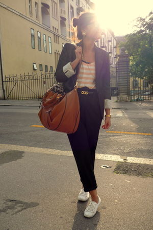 pieces top - H&M blazer - Zara pants