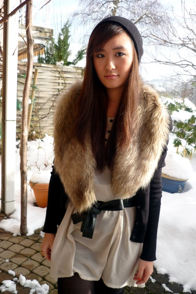 Vero Moda dress - H&M cardigan - pieces belt