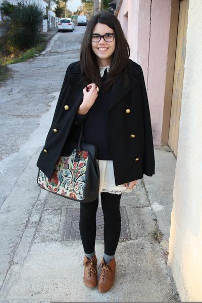 Zara coat - Zara boots - Zara dress - Sfera bag - Zara jumper