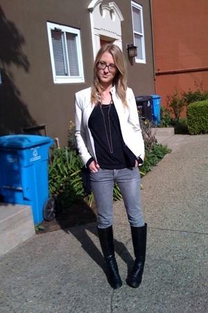 jacket - American Apparel jacket - ben sherman shirt - Blank jeans - franco sart