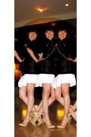 GH blazer - Rustans U top - Bayo belt - Nameless skirt - Ninewest shorts - thrif