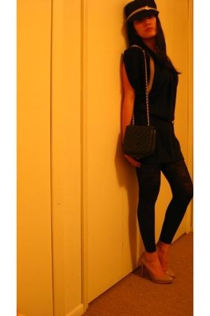 Ross dress - H&M leggings - vintage from Ebay purse - banana republic hat - Nine
