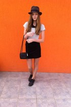 black shoes - black H&M skirt