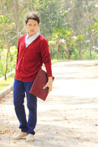 ambrogio cardigan - Lee Cooper shirt - the little things she needs bag