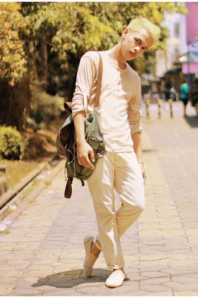 Lee Cooper bag - Lee Cooper flats - giordano top - Wrangler pants