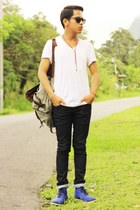 Lee Cooper jeans - Lee Cooper bag - H&M sunglasses - giordano t-shirt