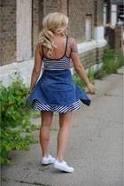 Converse shoes - kohls dress - madewell blouse