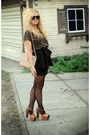 Brown-rd-design-blouse-black-ark-co-skirt-black-american-apparel-tights-