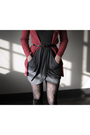 Gray-silence-noise-dress-red-bdg-cardigan-black-unlisted-boots-black-bdg-