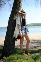 luluscom boots - trask bag - Ditto shorts - American Apparel top