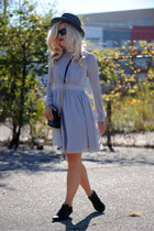 vintage boots - Little Mistress dress - J Crew hat - Marc Jacobs bag