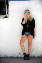 Noonday Collection necklace - shoemint boots - Chanel bag - Levis shorts