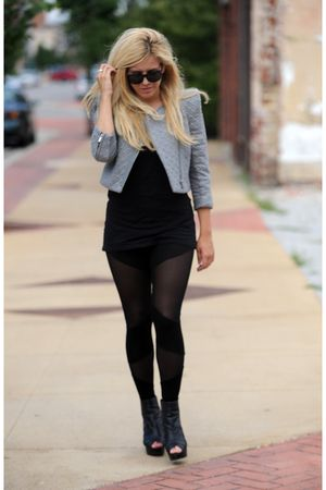 gray BCBG jacket - black Aldo shoes - black from nasty gal leggings