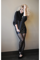 black The Limited scarf - gray Forever 21 sweater - black BB Dakota skirt - blac