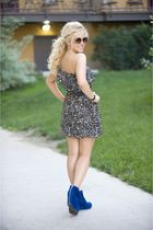 black from spottedmothcom dress - blue Jeffrey Campbell shoes