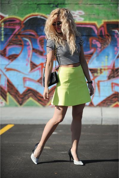 J Crew skirt - H&M jacket - Chanel bag