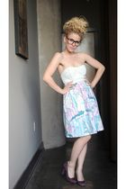 blue Kimchi Blue dress - purple BCBG shoes - black Urban Outfitters glasses