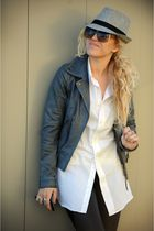 gray BDG hat - gray For Joseph jacket - black Aldo shoes - brown Marc by Marc Ja