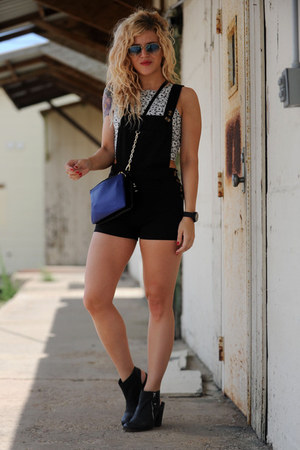 Sheinsidecom jumper - shoemint boots - Aeropostale top - H&M vest