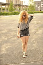 American Apparel sweater - m missoni bag - vintage levis shorts - Blowfish sanda