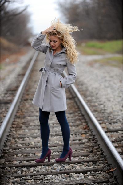 coat - tights - BCBG shoes