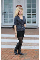 black American Apparel dress - black Steve Madden boots - gray coincidence & cha