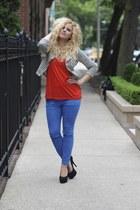 jacket - BDG jeans - H&M top - Kelsi Dagger heels