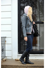 Pink-american-apparel-sweater-gray-for-joseph-jacket-black-american-apparel-