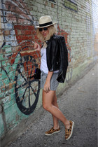 J Crew hat - Zara jacket - wink and winn bag - Athleta shorts