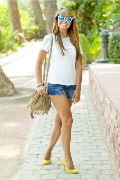 mustard Zara shoes - camel Springfield bag