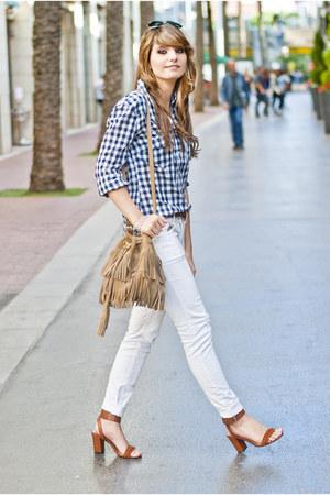 camel Springfield bag - tawny Mango sandals