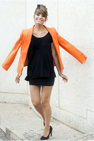 carrot orange Mango blazer