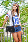 Blue-h-m-shorts-white-choies-t-shirt-tawny-marypaz-sandals