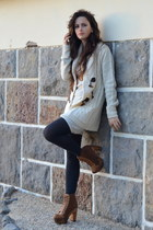 Seaside boots - Bershka dress - Primark cardigan