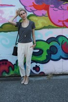 Zara shirt - coach bag - oakfort pants - Call it Spring flats