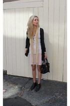 Topshop boots - wilfred skirt - sheer Seneca Rising cardigan