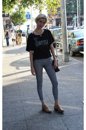 Urban Outfitters shirt - Frye boots - American Apparel jeans