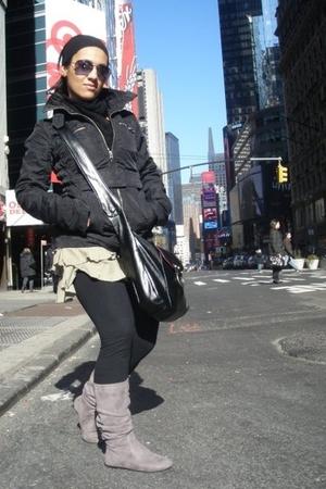 Bershka jacket - Charlotte Russe skirt - leggings - Billabong purse - Charlotte