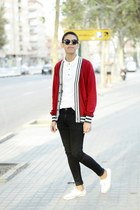 red Forever 21 cardigan