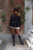 black H&M boots - black Pimkie hat - red Generic scarf - black Generic socks