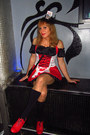 Red-gredos-shoes-red-rosa-lin-dress-black-generic-stockings